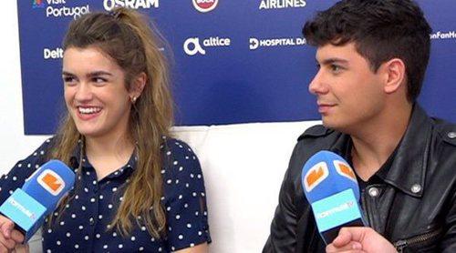 """Primera entrevista de Amaia y Alfred tras su ensayo en Eurovisión 2018: """"Hay que pulir pequeños detalles"""""""