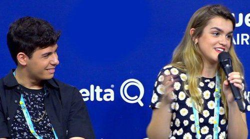 Eurovisión 2018: Rueda de prensa de Amaia y Alfred tras el segundo ensayo de España