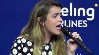 Eurovisión 2018: Amaia emociona a los medios cantando una copla en la rueda de prensa