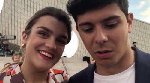 Eurovisión 2018: Así ha sido la retransmisión en directo de la Blue Carpet con Amaia y Alfred
