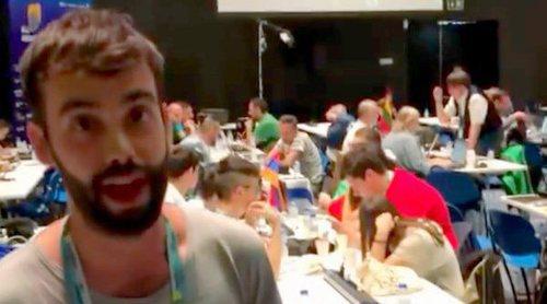 Eurovisión 2018: El ambiente en la zona de prensa antes de la Semifinal 1