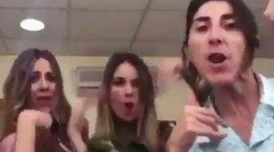 """Eva Isanta, Paz Padilla, Vanesa Romero y Norma Ruiz bailan """"Lo malo"""" en el rodaje de 'La que se avecina'"""