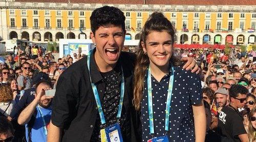 Eurovisión 2018: Encuentro de Amaia y Alfred con los fans en el Eurovillage