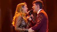 """Eurovisión 2018: Amaia y Alfred cantando """"Tu canción"""" en el ensayo general de la Gran Final"""