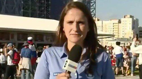 Mundial de Rusia 2018: Una periodista brasileña se enfrenta a un aficionado que intentó besarla