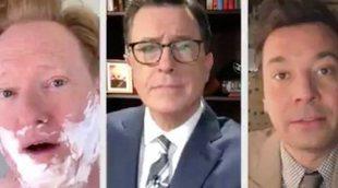 Jimmy Fallon, Conan O'Brian y Stephen Colbert se unen para responder a las críticas de Trump