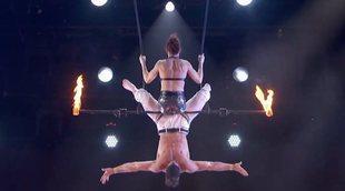 'America's Got Talent': Un trapecista cae al vacío durante su actuación