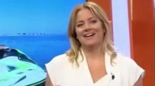 Una reportera de 'Murcia conecta' se cae de una moto acuática en pleno directo