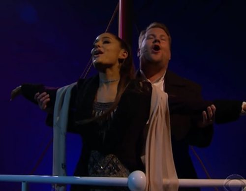 """Ariana Grande y James Corden protagonizan """"Titanic"""" en esta divertida parodia"""