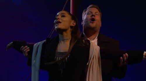 """Ariana Grande y James Corden protagonizan su particular """"Titanic"""" en esta divertida parodia en CBS"""