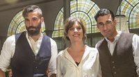Los actores de 'El Continental' nos muestran el club: Así es el plató de rodaje en Madrid
