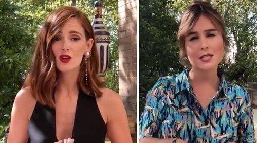 Las protagonistas de 'Las chicas del cable' imitan a Paulina de la Mora, de 'La casa de las flores'