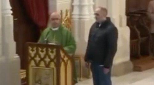 """Un hombre irrumpe espontáneamente en una misa emitida en Trece: """"Soy Luis Enrique y soy la reencarnación"""""""