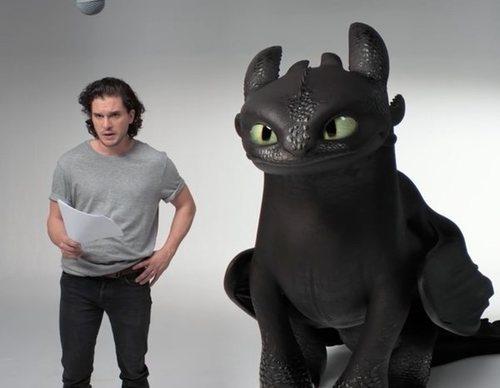 Kit Harington y Desdentao protagonizan la divertida promo de 'Cómo entrenar a tu dragón 3'