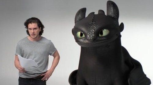 Kit Harington cambia a los dragones de 'Juego de Tronos' por Desdentao en 'Cómo entrenar a tu dragón 3'