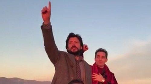 'La Casa de Papel': Álvaro Morte y Pedro Alonso revolucionan Florencia en el rodaje de la tercera temporada
