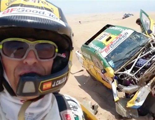 Jesús Calleja se retira del Dakar 2019 tras sufrir un aparatoso accidente
