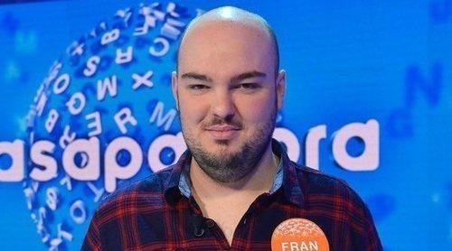 """Fran González, ganador del bote de 'Pasapalabra': """"Son muchos programas y se pasa por altibajos y subidones"""""""