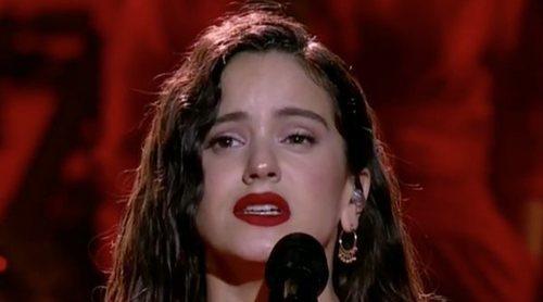 """Goya 2019: Así ha sido la actuación de Rosalía cantando """"Me quedo contigo"""""""