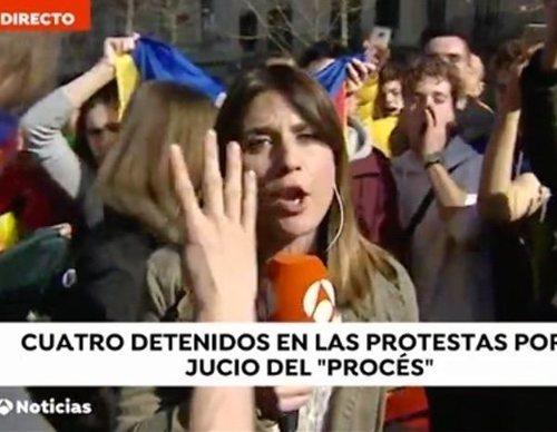 Desconectan la cámara y boicotean una conexión de 'Antena 3 Noticias' en Barcelona