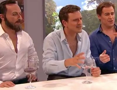 'Polònia' parodia a Bertín Osborne haciendo pruebas a Casado, Rivera y Abascal para decidir a quién votar