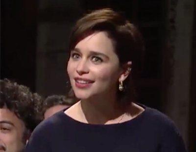 'Juego de Tronos': Kit Harington responde a las divertidas preguntas de Emilia Clarke y Rose Leslie en 'SNL'