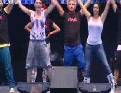 Ensayo del Flash Mob de 'Fama' con la canción de Kylie Minogue