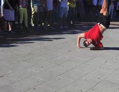 Improvisaciones durante el Flashmob de 'Fama Revolution' en Madrid