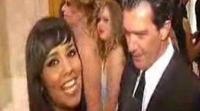 Cristina Pedroche entrevista a Eva Longoria y Antonio Banderas