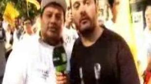 Miguel Martín se estrena como reportero de 'Buenafuente'
