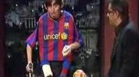 Berto se disfraza de Leo Messi para hablar de su lesión