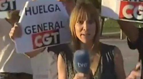 Interrumpen la labor informativa de una periodista de 'España directo'