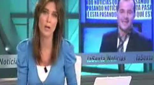 La marcha de Ángel Martín, noticia en el informativo de laSexta