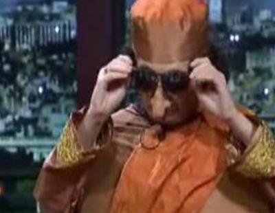 Berto Romero se disfrazó de Gaddafi en 'Buenafuente'