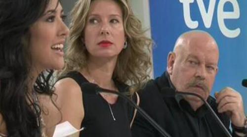 Rueda de prensa antes de la partida de Lucía Pérez hacia Eurovisión