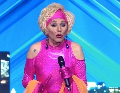 'Got Talent 5': Xayo, una veterana drag queen que luchó en el franquismo, emociona al jurado en la gala 5