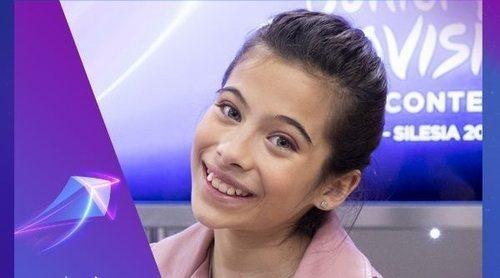 """Melani García: """"Me ha encantado que los españoles se hayan volcado tanto en votarme en Eurovisión Junior"""""""