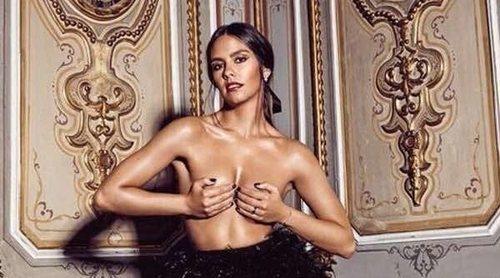 Cristina Pedroche se desnuda en la Puerta del Sol para promocionar las Campanadas