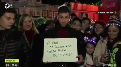 El emotivo mensaje de un reportero de Telemadrid en Nochevieja que ha arrasado en redes