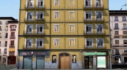 Una comunidad recrea la mítica cabecera de 'Aquí no hay quien viva' durante el aislamiento