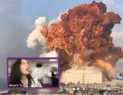 Una periodista de BBC en Beirut es sorprendida en directo por las explosiones de la ciudad