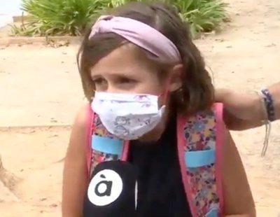 """La impactante declaración de un niña en À Punt: """"Es mejor la mascarilla que morirse"""""""