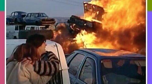 Así se rodaron las secuencias de explosiones en series como 'Compañeros' o 'Policías'