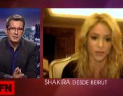 Buenafuente conecta con Shakira, en Beirut, vía Skype