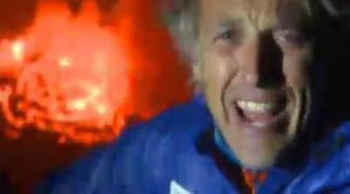 Jesús Calleja visita en 'Desafío extremo' el lago de lava más grande del planeta