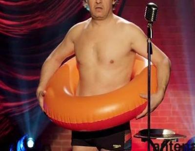 Miki Nadal se enfunda el flotador para promocionar 'Splash! Famosos al agua'