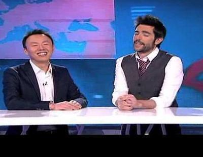 """Toma falsa de 'El Intermedio International Edition' con Jianyang Huang confundiendo """"pajarita"""" con """"parejita"""""""