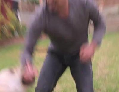 César Millán, atacado por la perra Holly durante la grabación de 'El encantador de perros'
