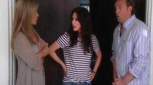 Jennifer Aniston, Matthew Perry y Courteney Cox se reúnen en 'Ellen'