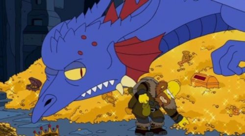 """'Los Simpson' rinde homenaje a """"El Hobbit"""" en su última cabecera"""